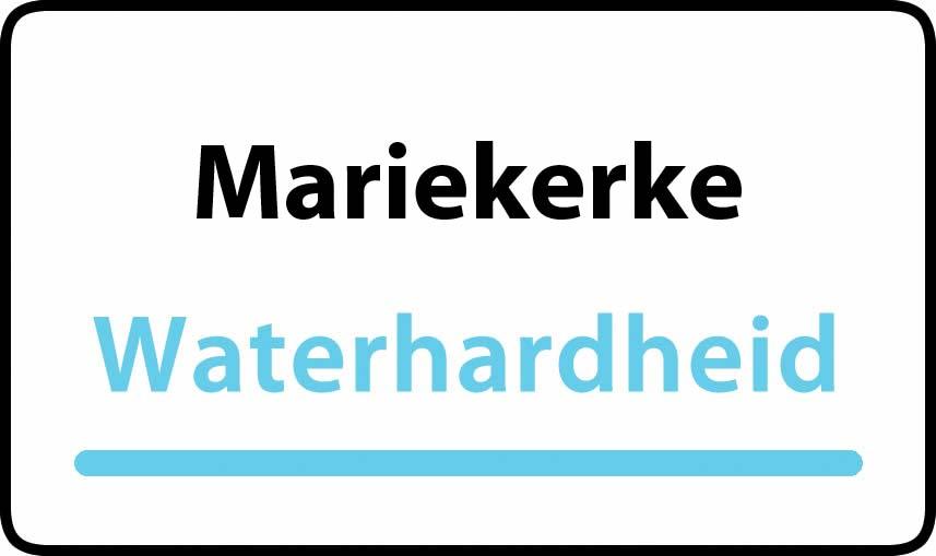 waterhardheid in Mariekerke is middel hard water 18 °F Franse graden