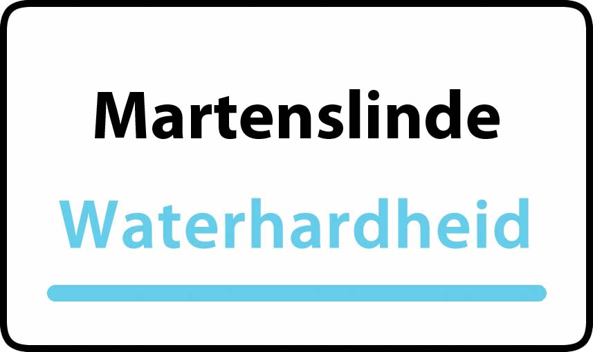 waterhardheid in Martenslinde is hard water 35 °F Franse graden