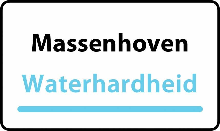 waterhardheid in Massenhoven is middel hard water 18 °F Franse graden