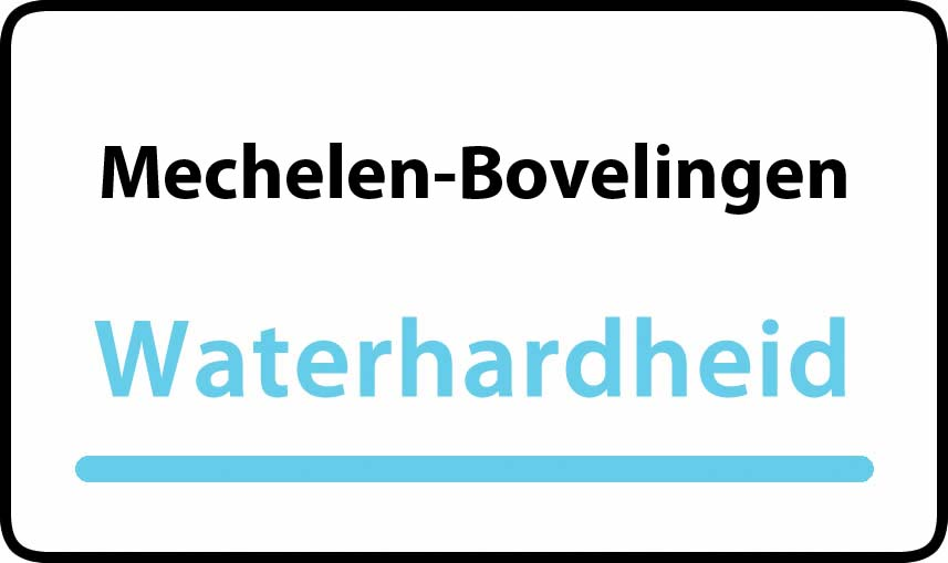waterhardheid in Mechelen-Bovelingen is hard water 37 °F Franse graden