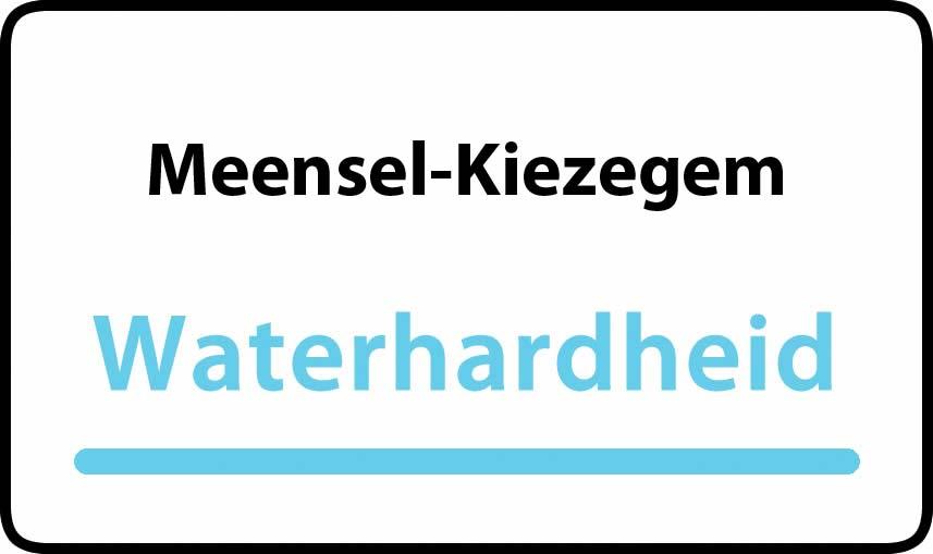 waterhardheid in Meensel-Kiezegem is middel hard water 18 °F Franse graden