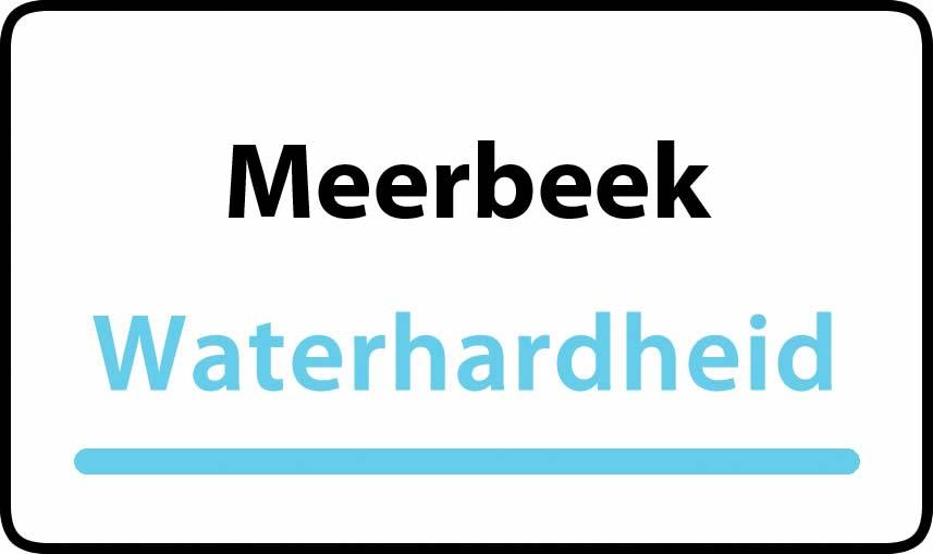 waterhardheid in Meerbeek is hard water 39 °F Franse graden