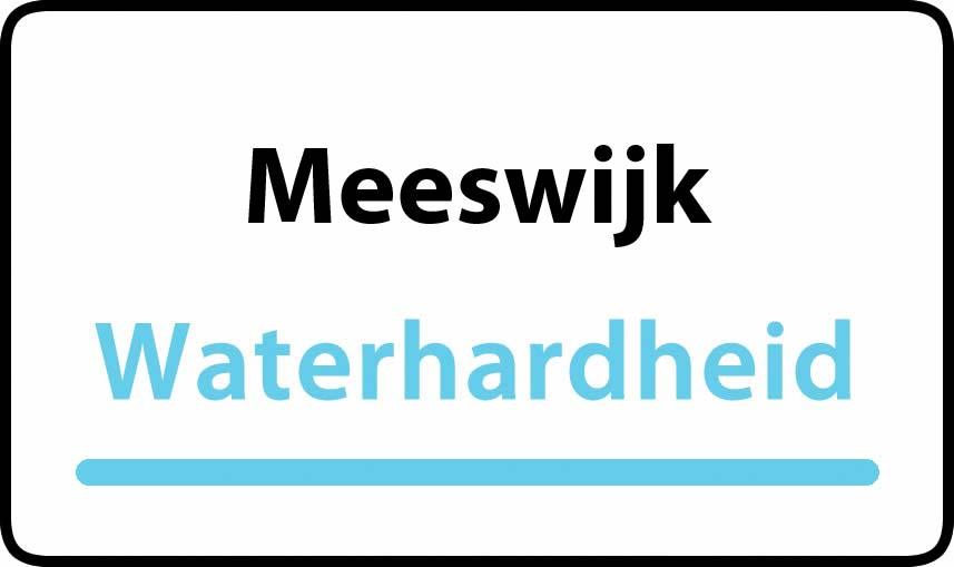 waterhardheid in Meeswijk is middel hard water 22 °F Franse graden