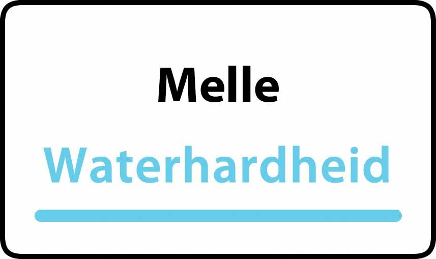 waterhardheid in Melle is middel hard water 23 °F Franse graden