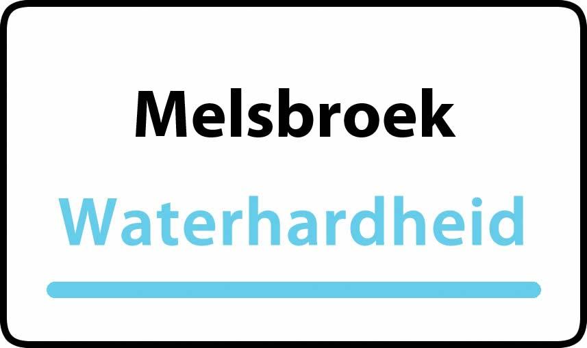 waterhardheid in Melsbroek is hard water 37 °F Franse graden