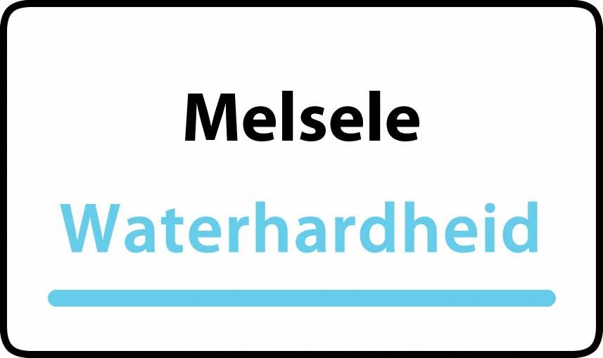 waterhardheid in Melsele is hard water 31 °F Franse graden