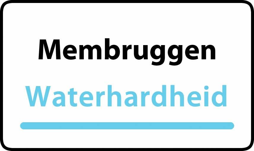 waterhardheid in Membruggen is hard water 37 °F Franse graden