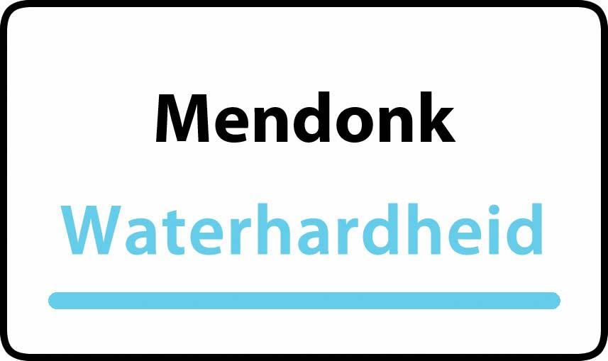 waterhardheid in Mendonk is middel hard water 23 °F Franse graden