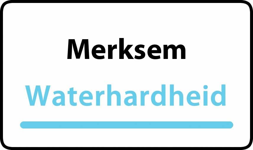 waterhardheid in Merksem is middel hard water 18 °F Franse graden