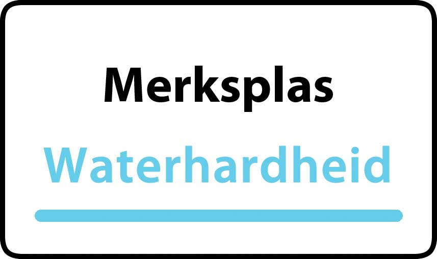waterhardheid in Merksplas is middel hard water 21 °F Franse graden