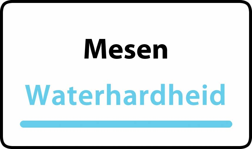 waterhardheid in Mesen is hard water 44 °F Franse graden