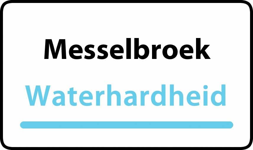waterhardheid in Messelbroek is middel hard water 17 °F Franse graden