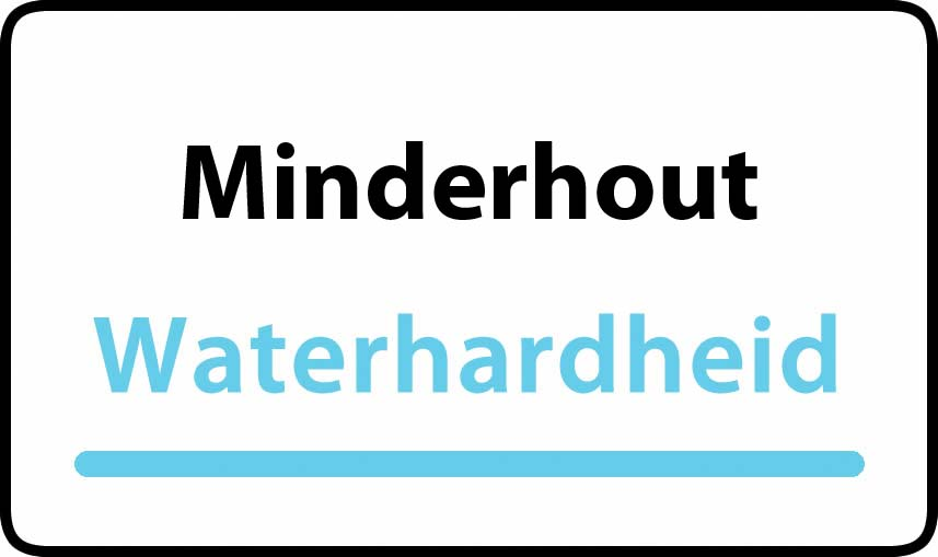 waterhardheid in Minderhout is middel hard water 18 °F Franse graden
