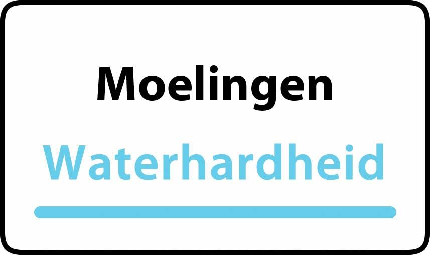 waterhardheid in Moelingen is middel hard water 15 °F Franse graden
