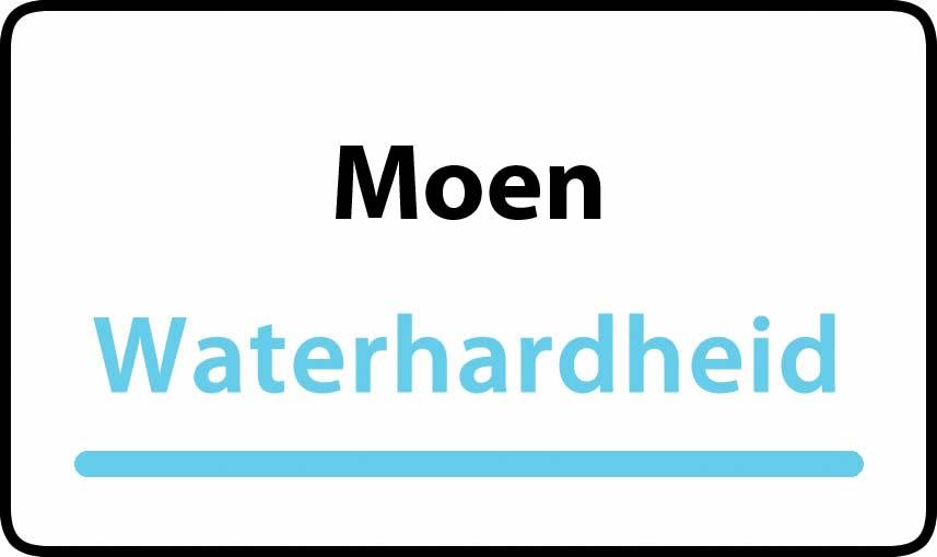 waterhardheid in Moen is zeer hard water 47 °F Franse graden