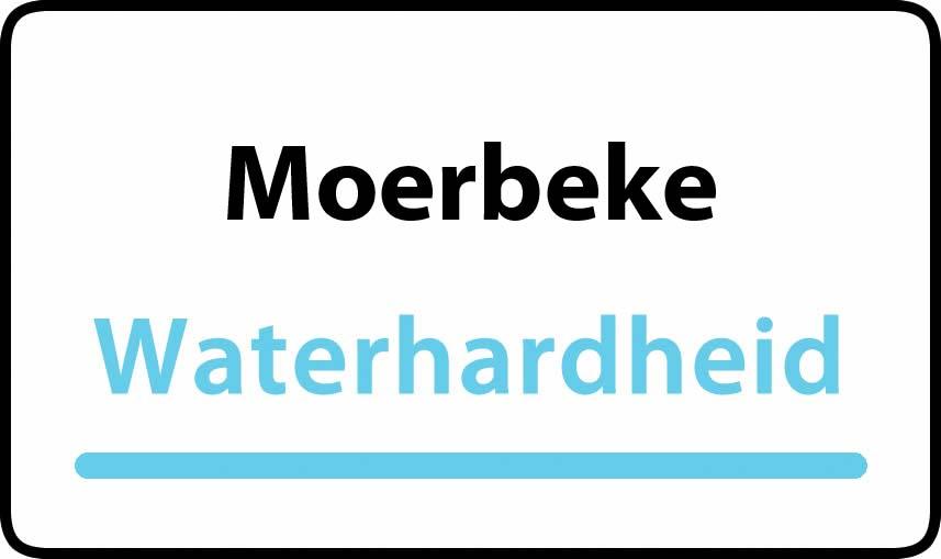 waterhardheid in Moerbeke is zeer hard water 55 °F Franse graden