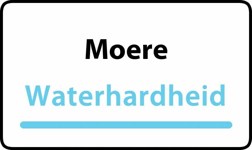 waterhardheid in Moere is hard water 32 °F Franse graden