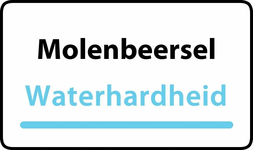 waterhardheid in Molenbeersel is middel hard water 15 °F Franse graden
