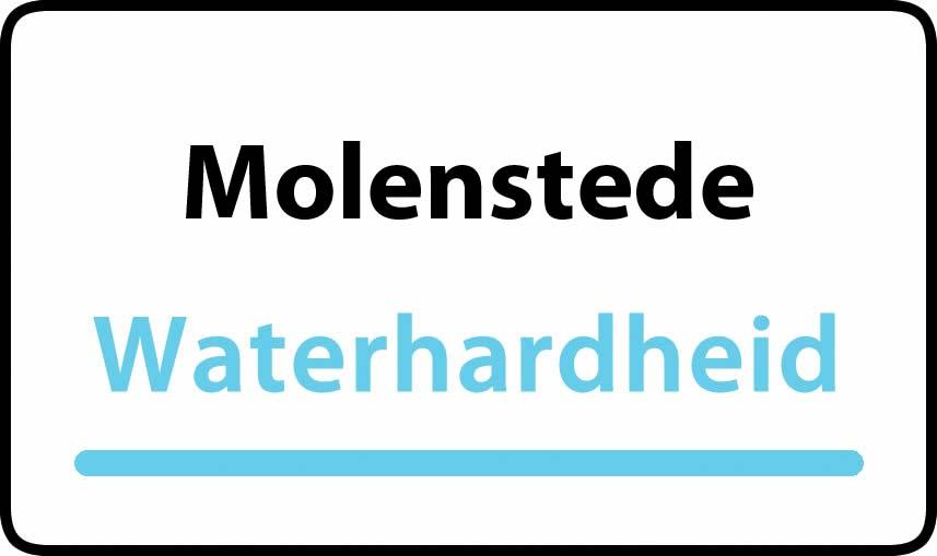 waterhardheid in Molenstede is middel hard water 15 °F Franse graden