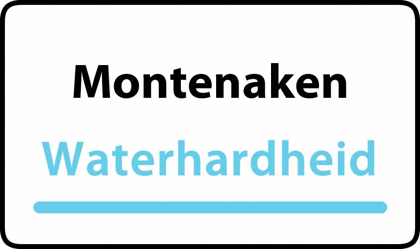 waterhardheid in Montenaken is middel hard water 18 °F Franse graden