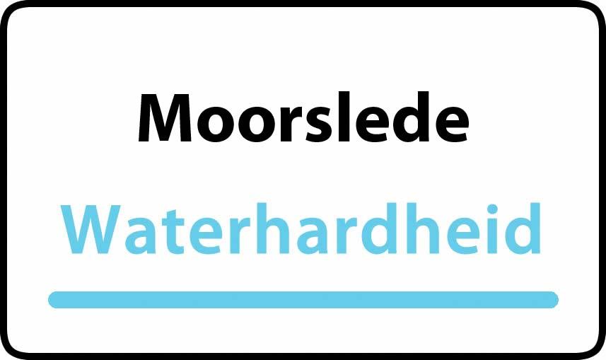 waterhardheid in Moorslede is hard water 43 °F Franse graden