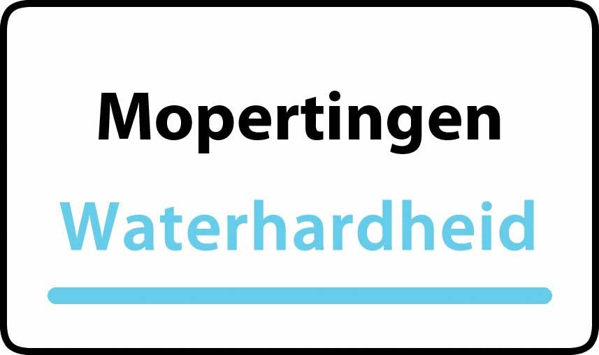 waterhardheid in Mopertingen is hard water 35 °F Franse graden