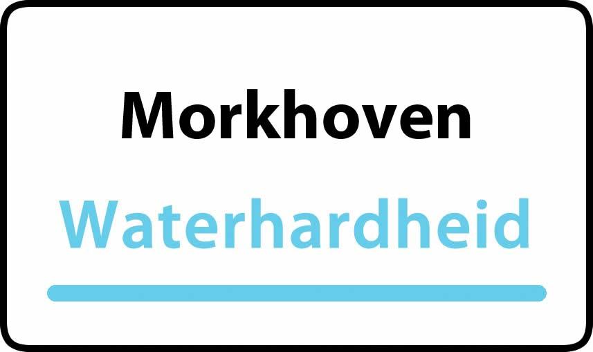 waterhardheid in Morkhoven is middel hard water 16 °F Franse graden