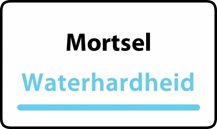 waterhardheid in Mortsel is middel hard water 18 °F Franse graden