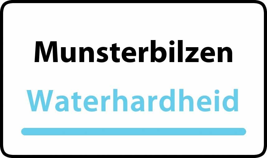 waterhardheid in Munsterbilzen is hard water 35 °F Franse graden