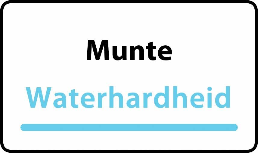 waterhardheid in Munte is hard water 39 °F Franse graden