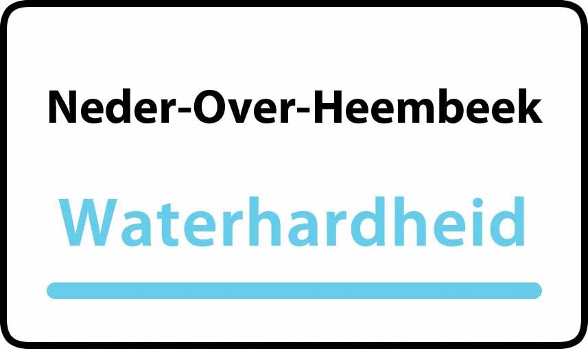 waterhardheid in Neder-Over-Heembeek is hard water 36 °F Franse graden