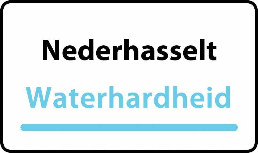 waterhardheid in Nederhasselt is hard water 39 °F Franse graden