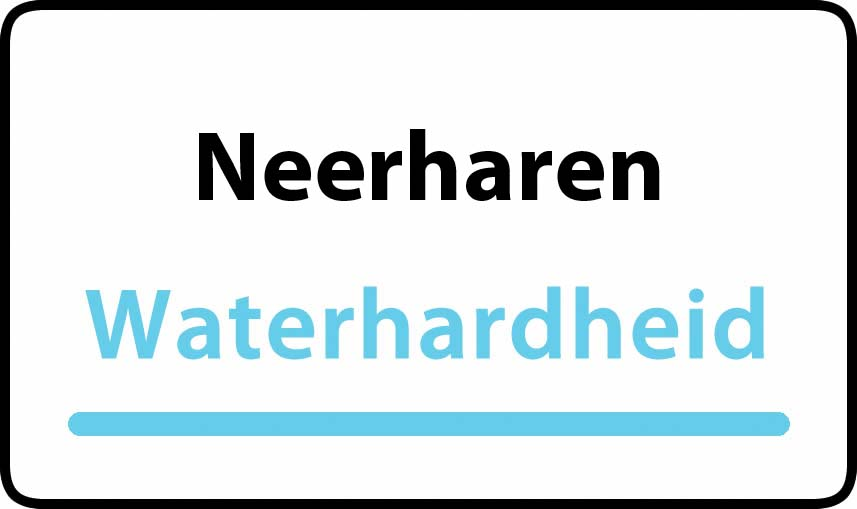 waterhardheid in Neerharen is middel hard water 22 °F Franse graden