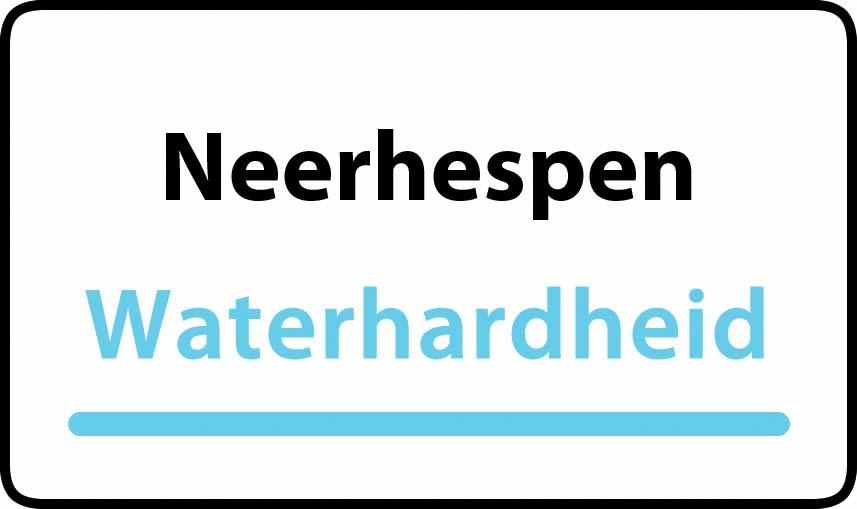 waterhardheid in Neerhespen is middel hard water 21 °F Franse graden