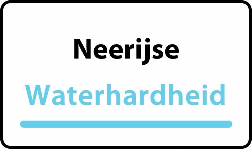 waterhardheid in Neerijse is hard water 34 °F Franse graden