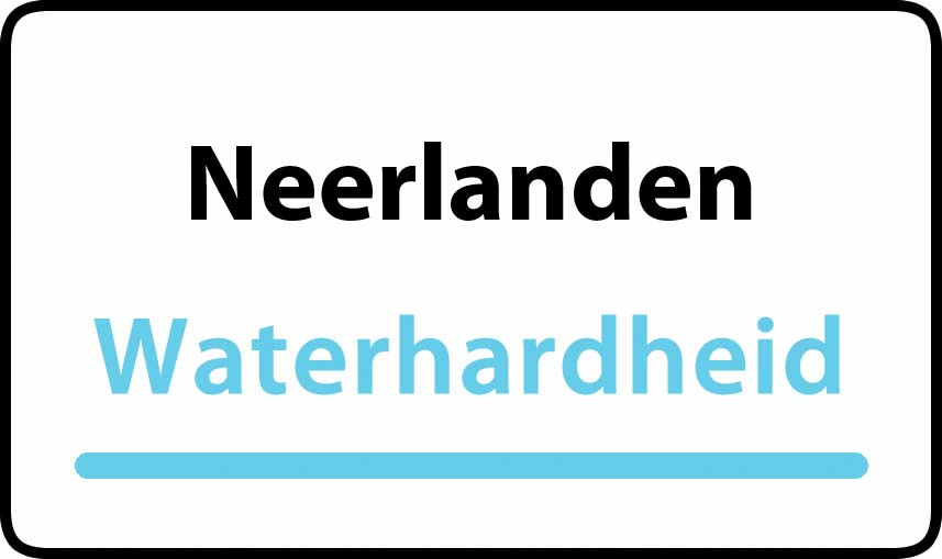 waterhardheid in Neerlanden is middel hard water 18 °F Franse graden