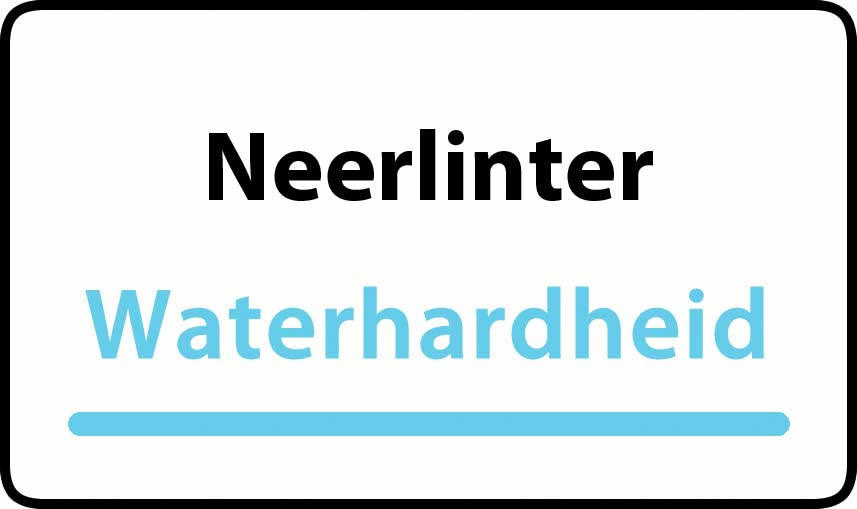 waterhardheid in Neerlinter is middel hard water 21 °F Franse graden