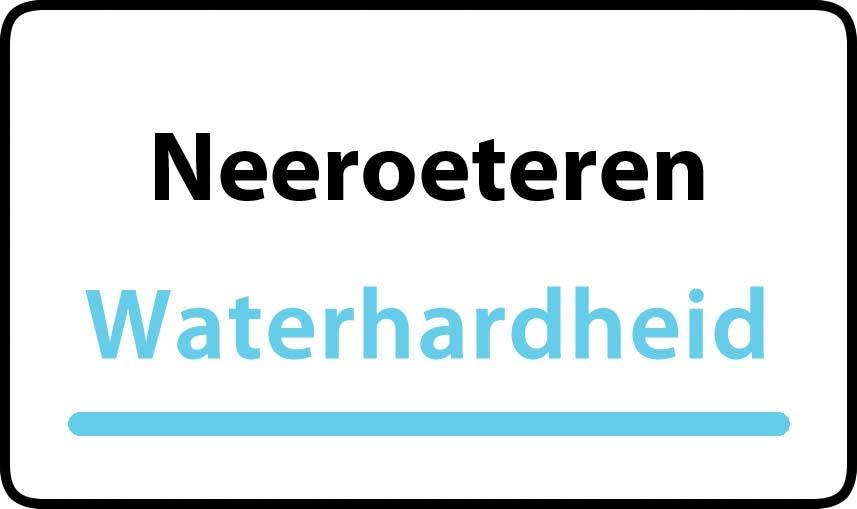 waterhardheid in Neeroeteren is middel hard water 16 °F Franse graden