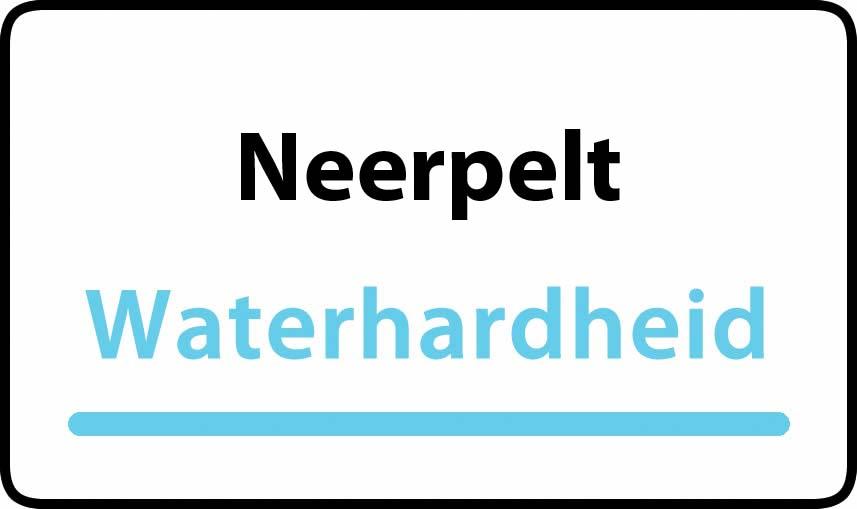 waterhardheid in Neerpelt is middel hard water 15 °F Franse graden