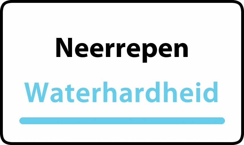 waterhardheid in Neerrepen is hard water 37 °F Franse graden