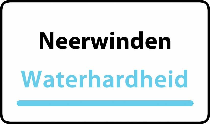waterhardheid in Neerwinden is hard water 38 °F Franse graden