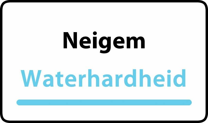 waterhardheid in Neigem is hard water 39 °F Franse graden