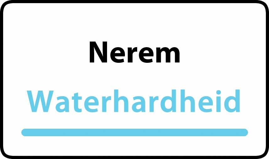 waterhardheid in Nerem is hard water 37 °F Franse graden