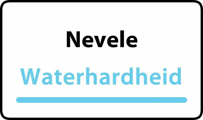 waterhardheid in Nevele is hard water 39 °F Franse graden