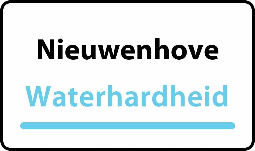 waterhardheid in Nieuwenhove is zeer hard water 55 °F Franse graden