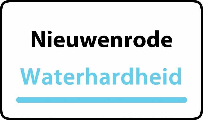 waterhardheid in Nieuwenrode is hard water 38 °F Franse graden