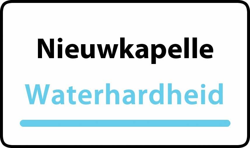 waterhardheid in Nieuwkapelle is middel hard water 27 °F Franse graden