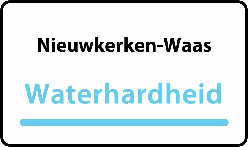 waterhardheid in Nieuwkerken-Waas is hard water 31 °F Franse graden