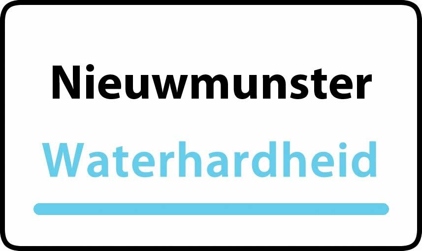 waterhardheid in Nieuwmunster is hard water 35 °F Franse graden