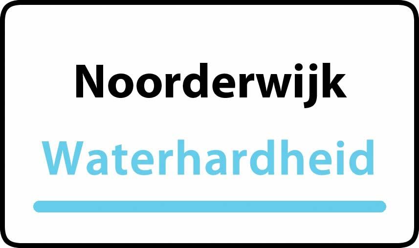 waterhardheid in Noorderwijk is middel hard water 16 °F Franse graden